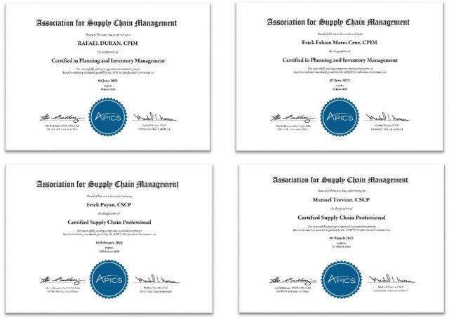 Nuevos Certificados APICS
